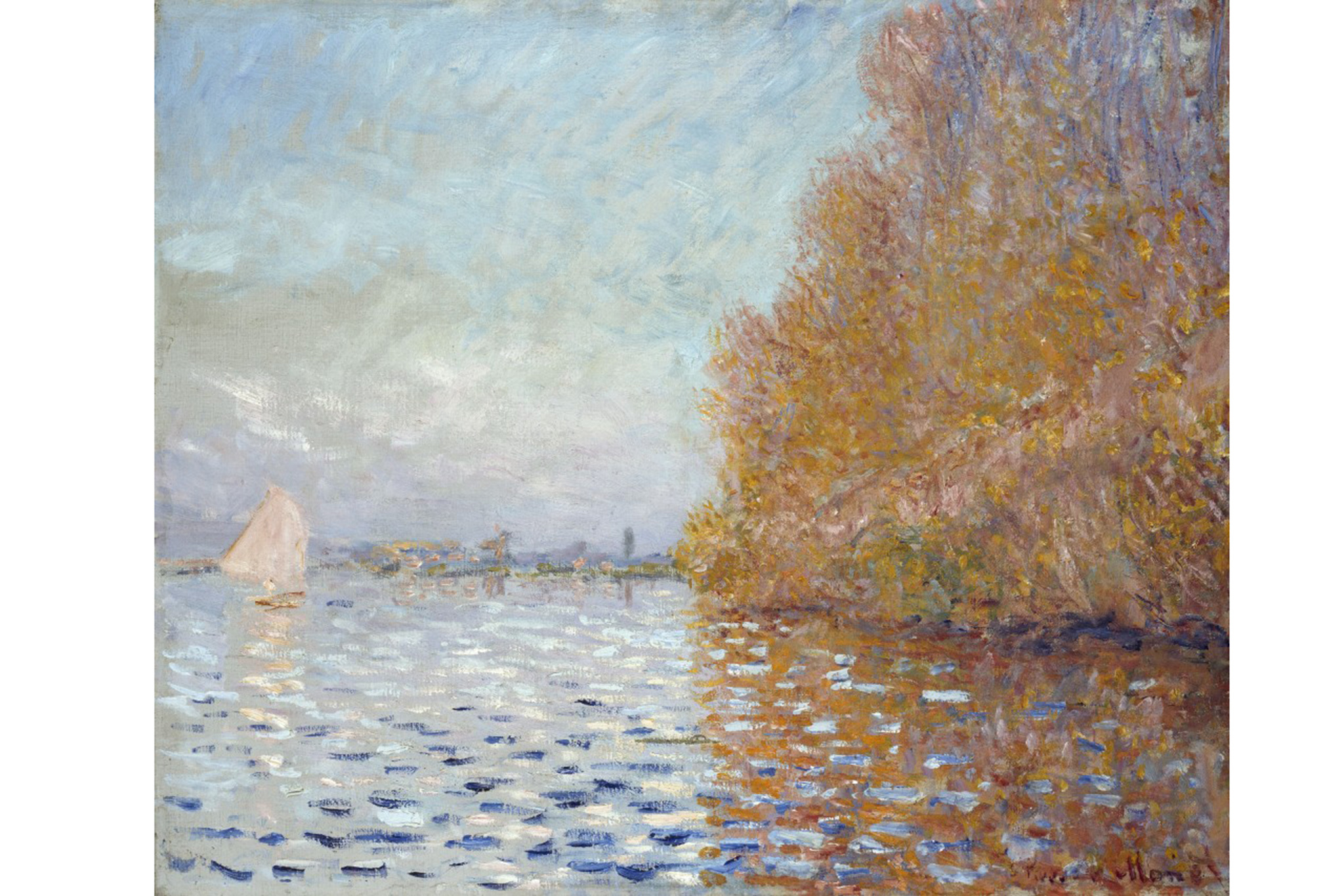 Claude Monet, Argenteuil Basin with a Single Sailboat