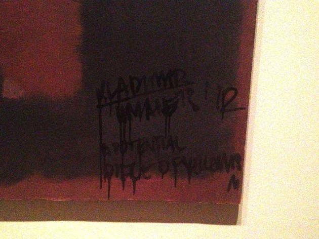 Mark Rothko, Black On Maroon