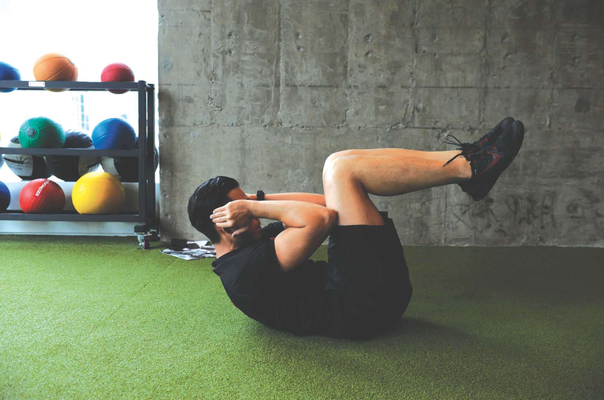 Crunches (20 reps)