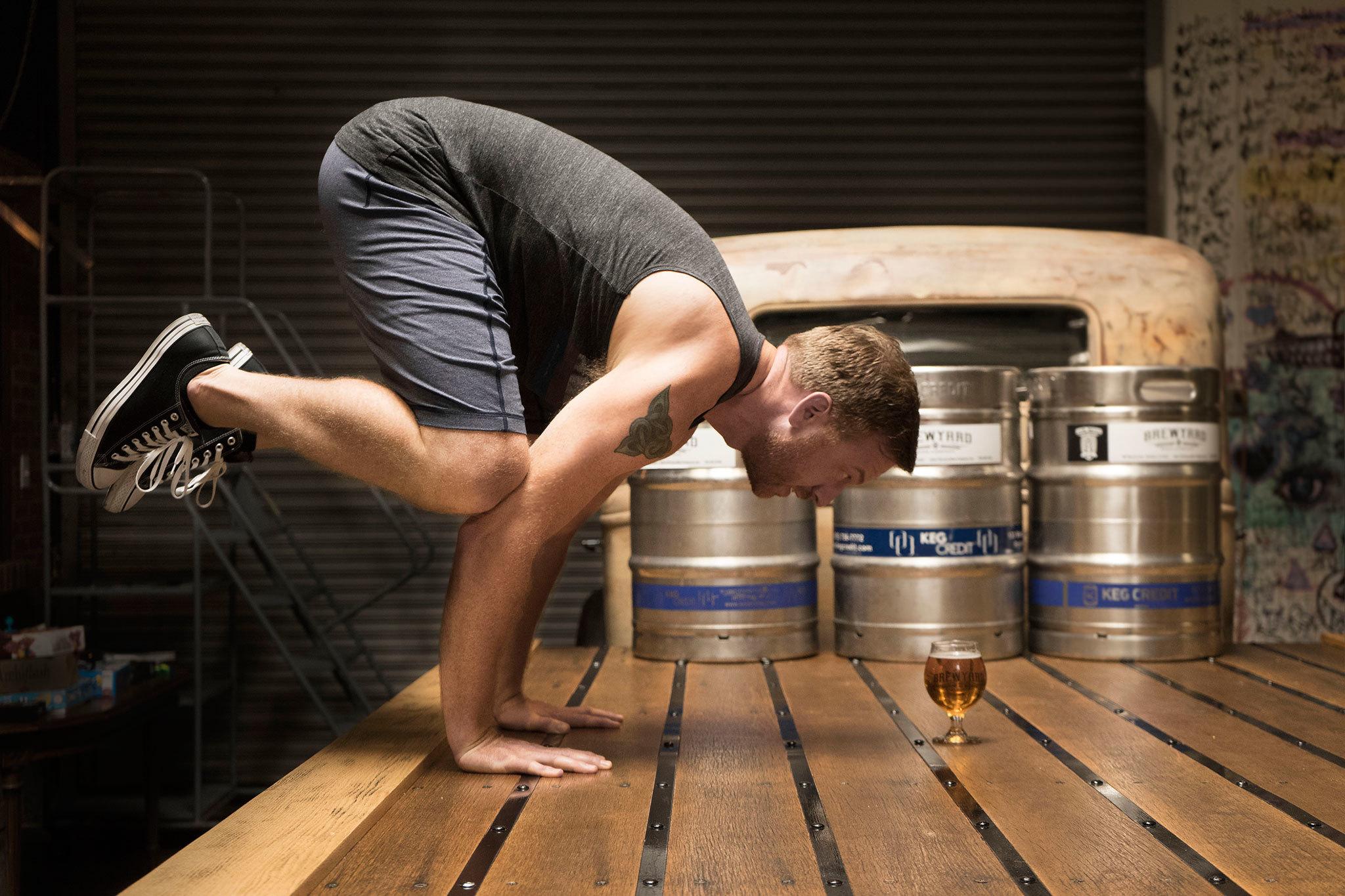 Yoga + Beer at Brewyard Beer Co.