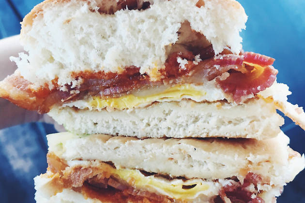 The best bacon egg and cheese sandwich in NYC, bacon egg and che
