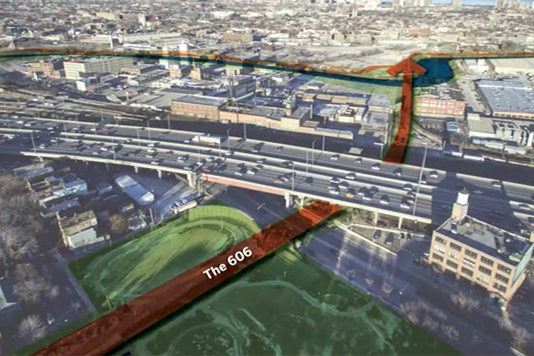 The 606 could soon extend east, across the Chicago River
