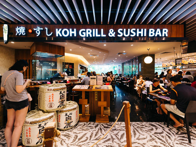 koh grill and sushi bar restaurants in orchard singapore. Black Bedroom Furniture Sets. Home Design Ideas