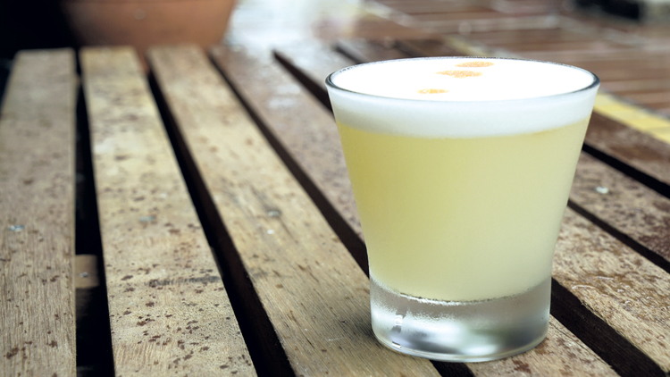Pisco sour, classic cocktail