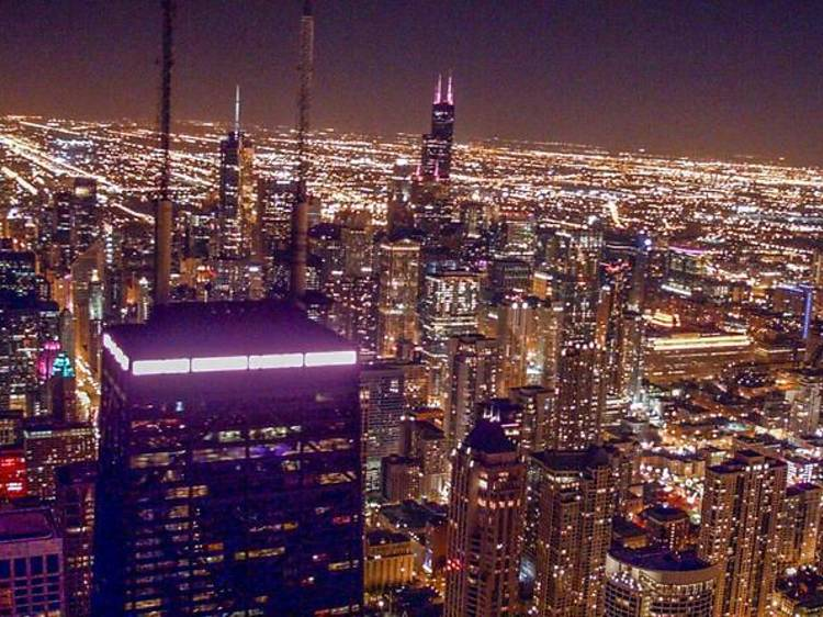 Chicago Helicopter Experience: Chicago Helicopter Tour Nighttime Experience