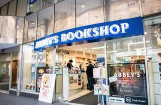 Entrance at Abbey's Bookshop