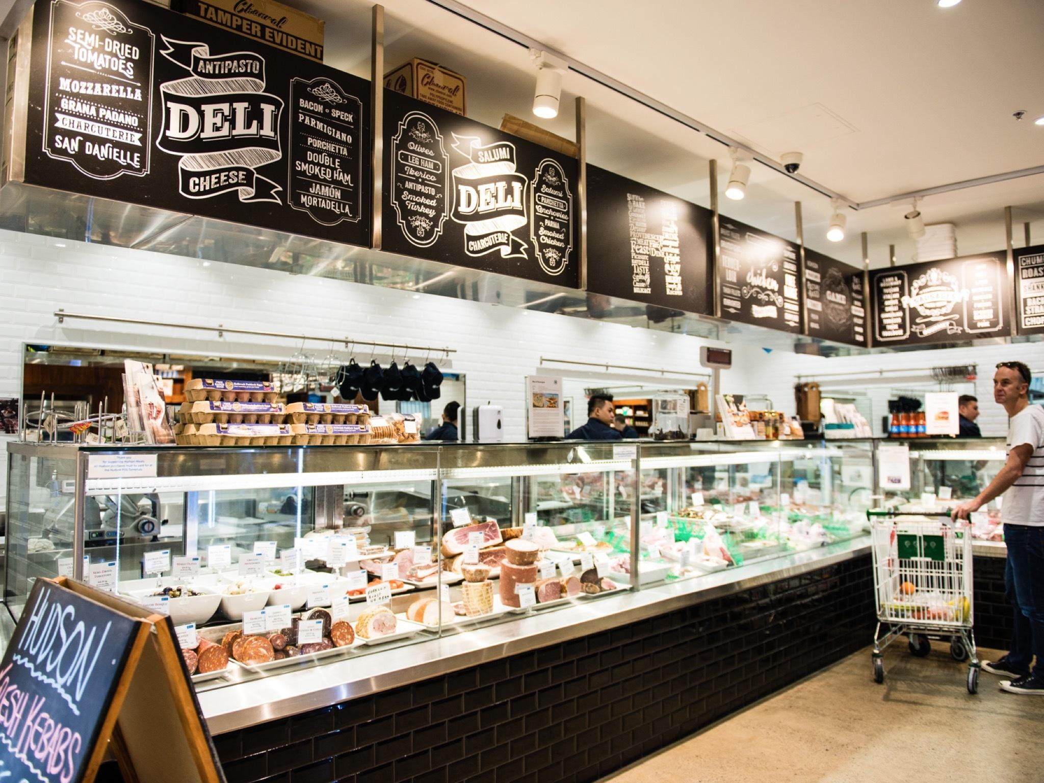 Counter displays at Hudson Meats
