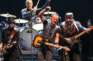 Bruce Springsteen performing live with E Street Band