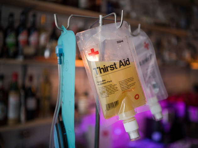 best cocktail bars in london, first aid box