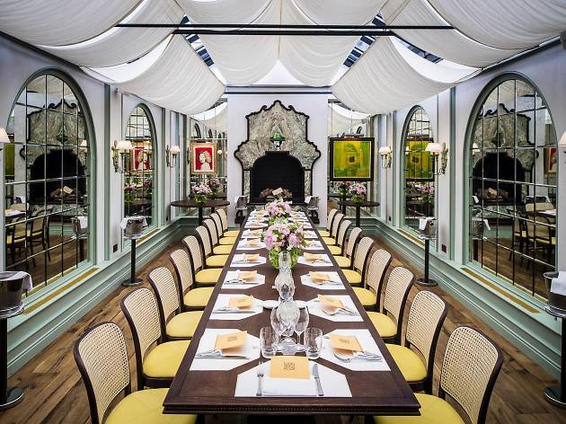 The best private dining rooms in London - Daphne's conservatory