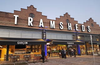 The exterior of the Tramsheds