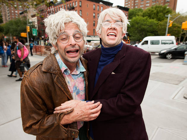 Gil Faizon (played by Nick Kroll) and George St. Geegland (John
