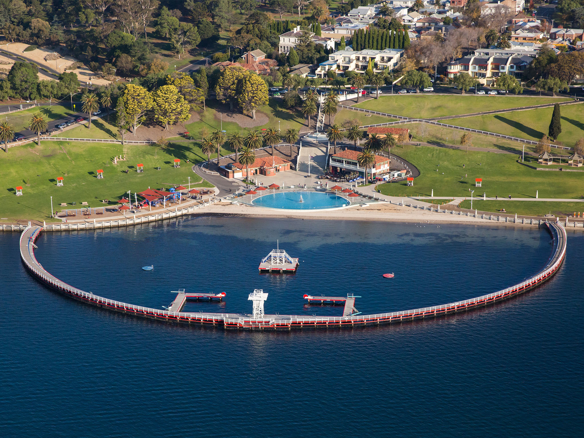 Geelong Pier from above