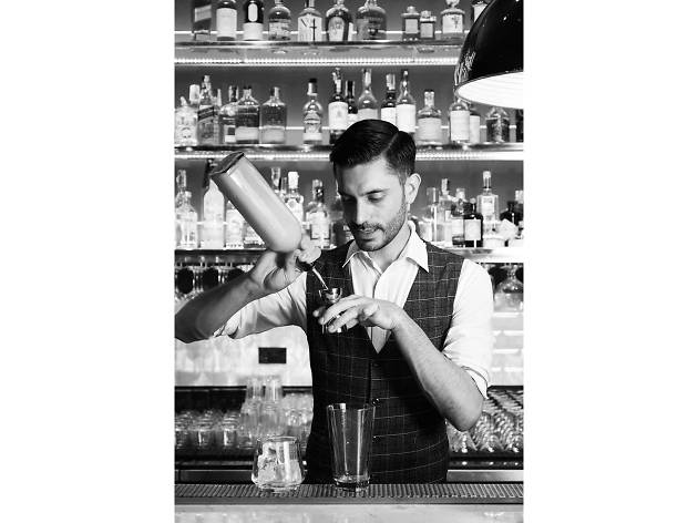 Michele Montauti, a bartender at Miky's