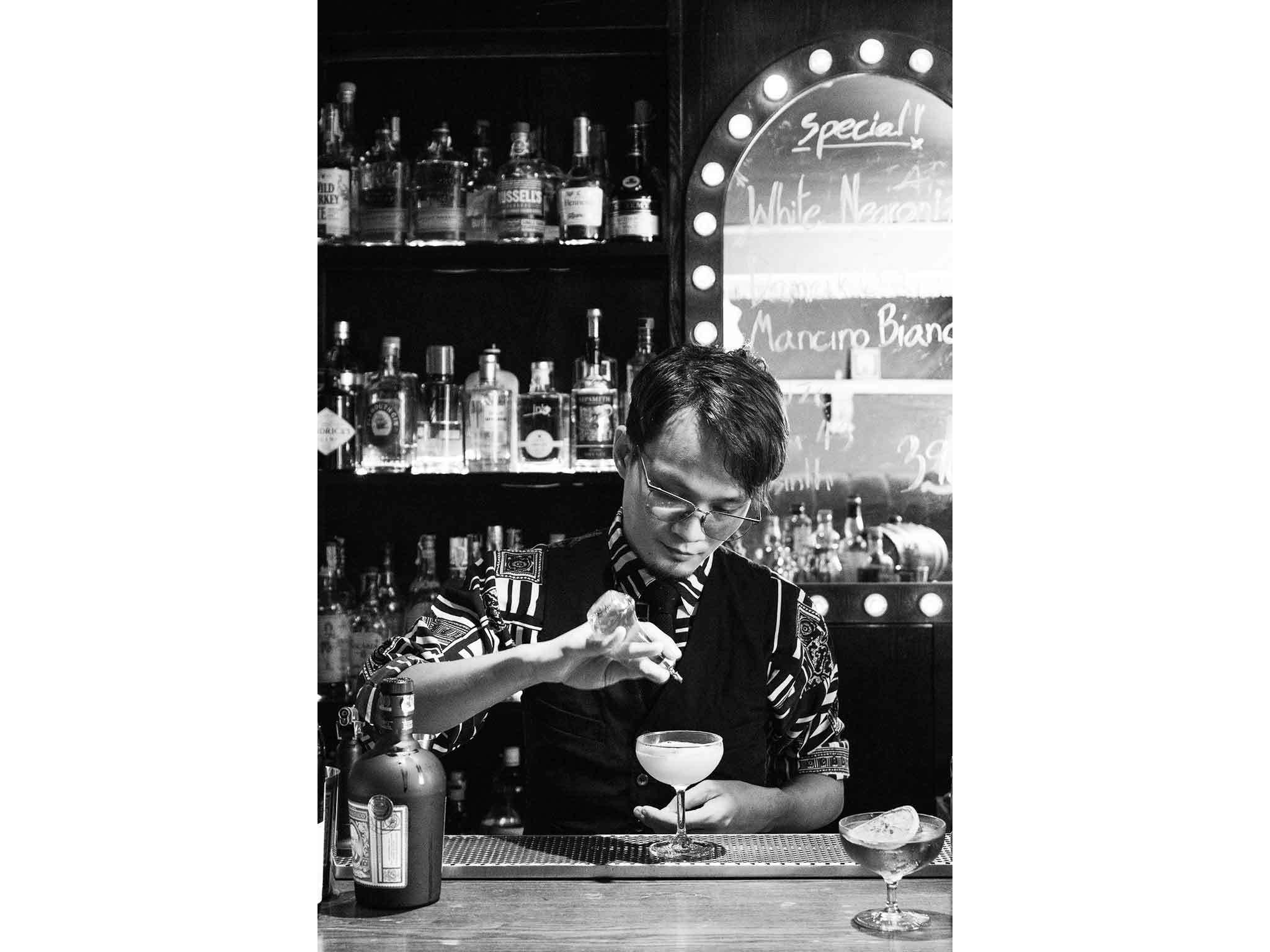 Kitibordee Chortubtim (Golf) a bartender at Backstage Cocktail Bar