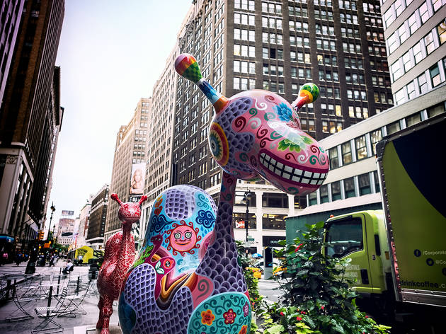 "Fanciful ""Fancy Animals"" take over the Garment District"