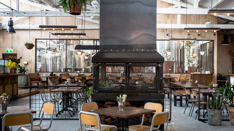The interior of Stomping Ground brewery in Collingwood