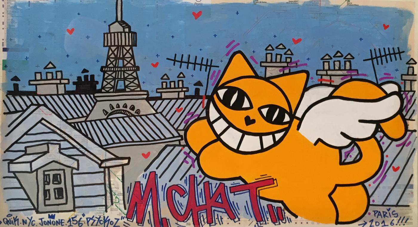 M. Chat street art