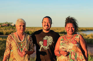 Ali and Mitch Torres of Kriol Kitchen with Adam Liaw in Broome