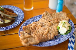 Plate of schnitzel