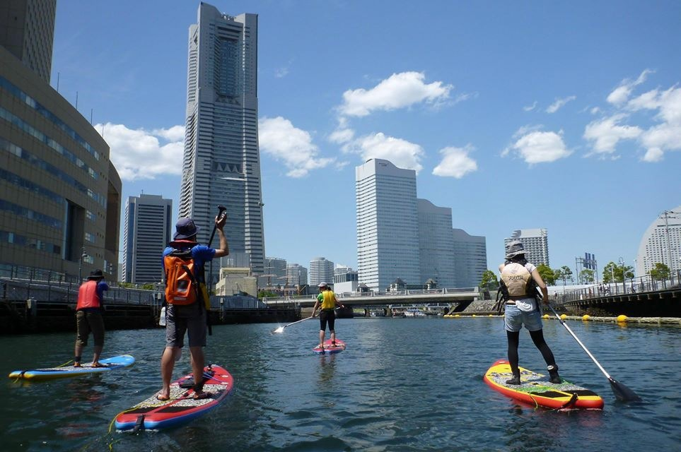 Paddle through the city…