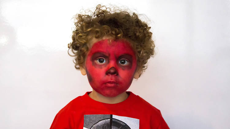 Maquillaje para Red Skull de Marvel