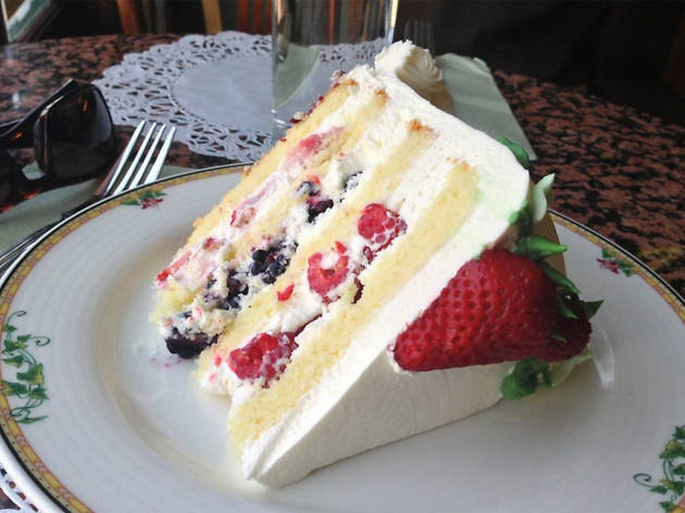 Triple berry shortcake at Sweet Lady Jane