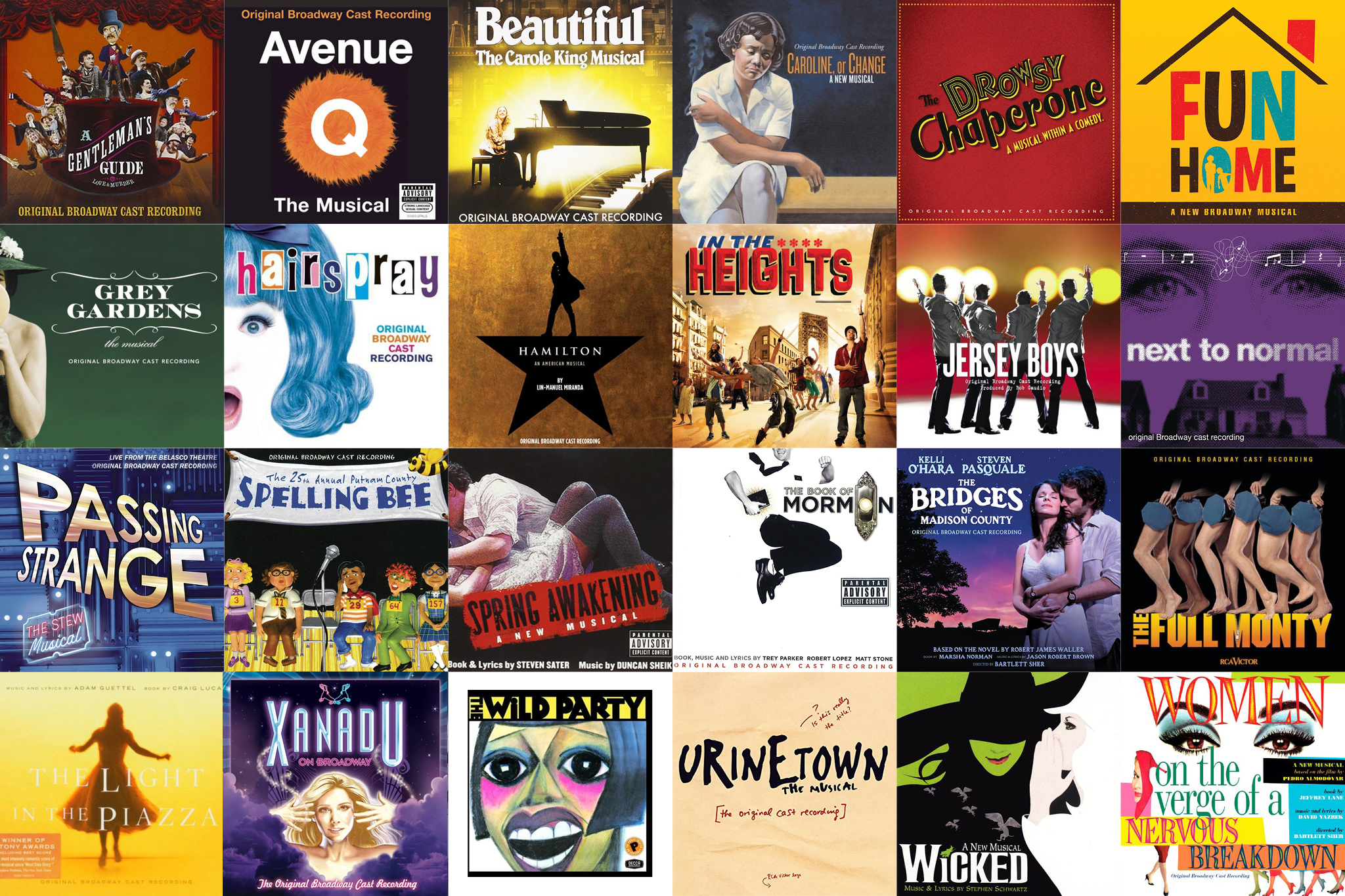 25 best original broadway cast albums of the millennium (so far)