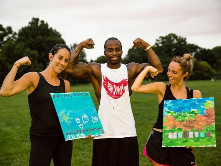 Paint and workout at the same time