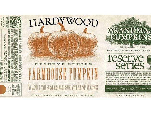 Farmhouse Pumpkin, Hardywood Park Craft Brewery, Richmond, VA