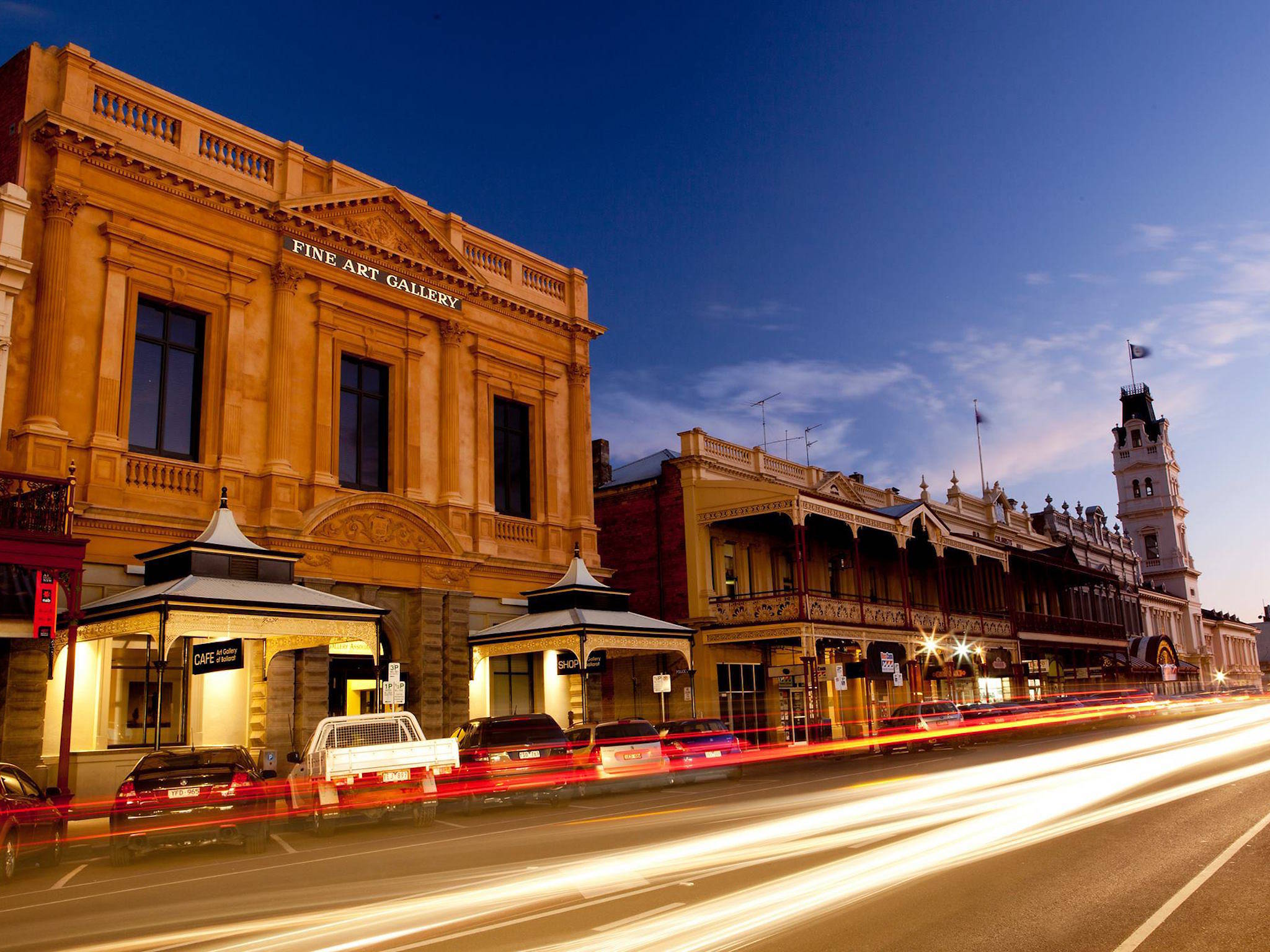 Ballarat main street at night
