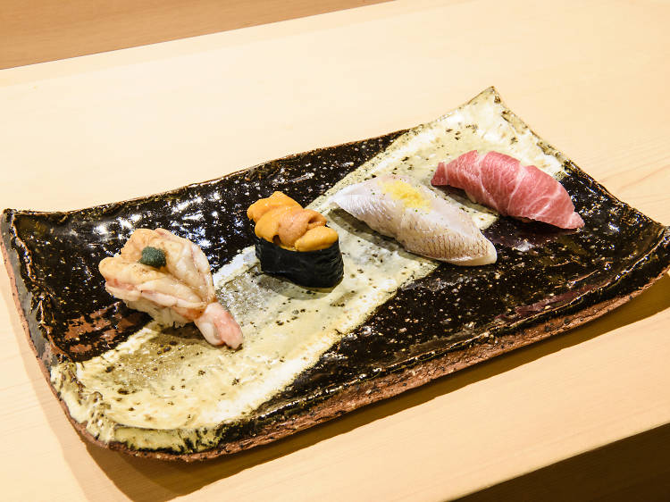 Have a stunning sushi dinner