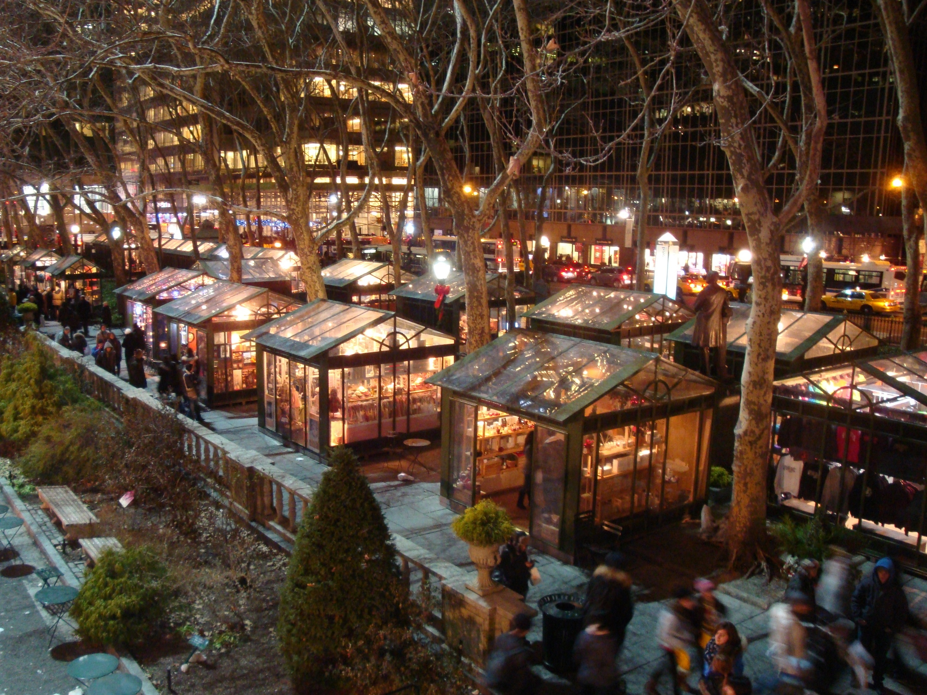 Bryant park winter village guide to the best holiday market for Things to do in nyc evening