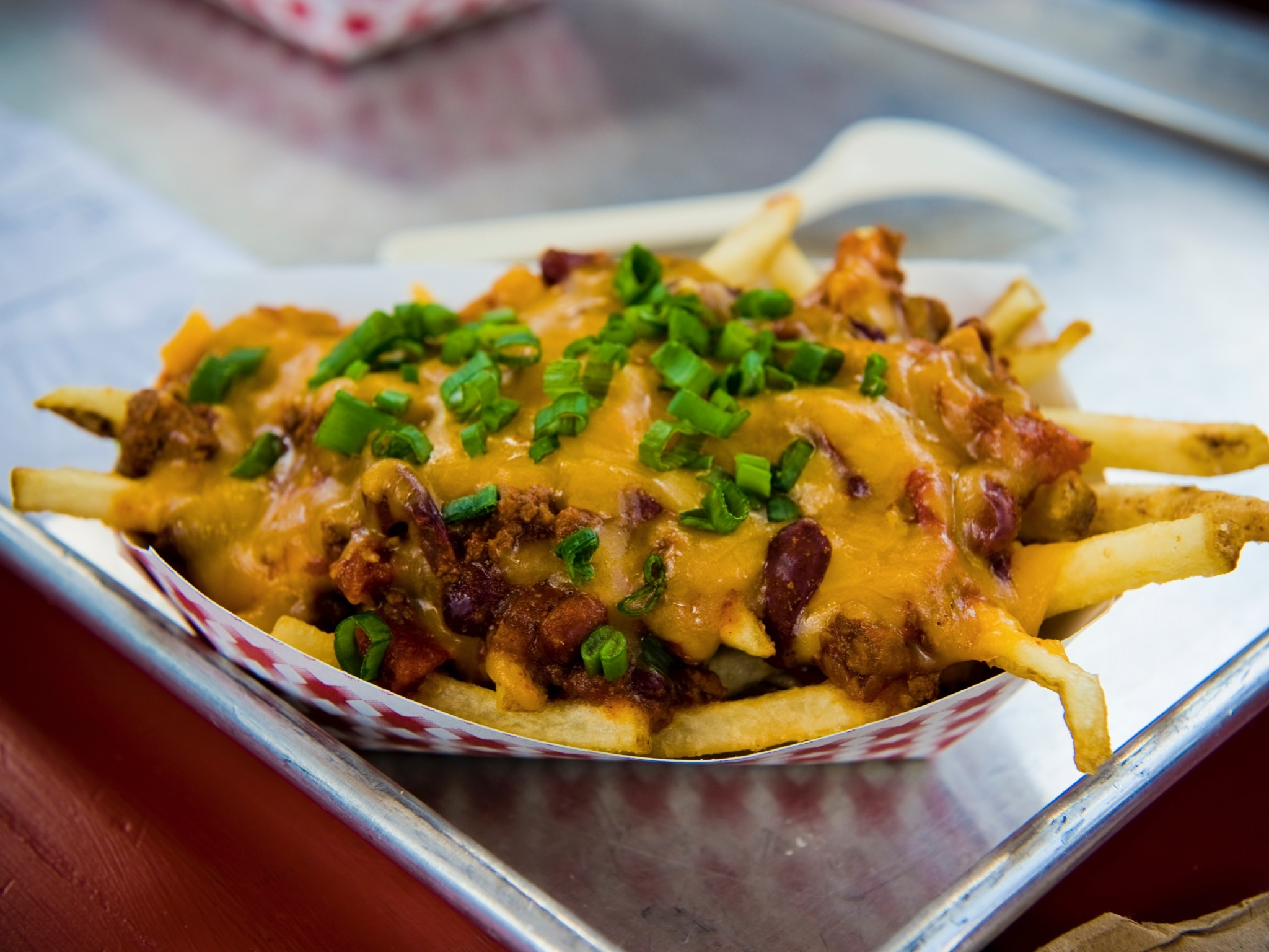Chilli Fries on a tray