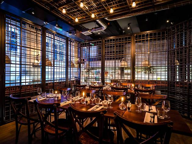 The best private dining rooms in London - the cage at wright brothers soho