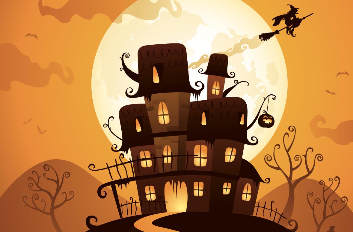 manoir hanté halloween