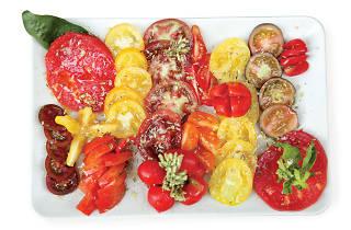Prato com tomates da Taberna da Rua das Flores