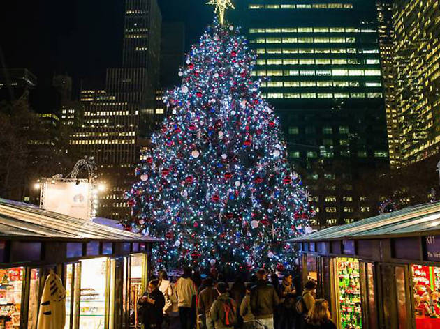 Go for the tree, but stay for the entertainment at The Bank of America Winter Village at Bryant Park