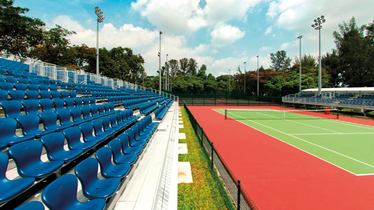 Public tennis courts in Singapore