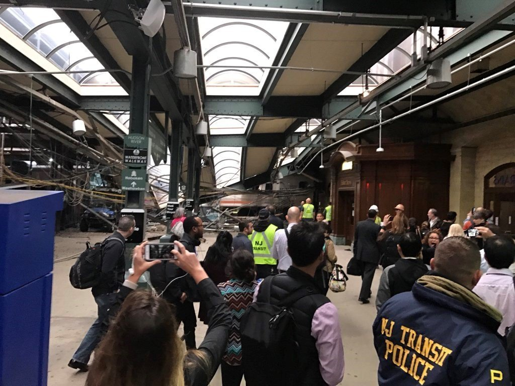 There was a massive New Jersey Transit train crash in Hoboken this morning