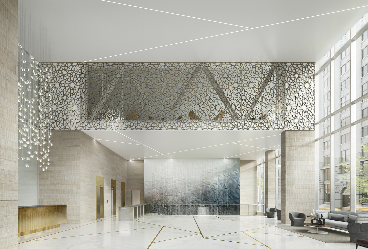 Elements From Islamic Architecture A Similar Scrim Decorates The Lobby Youll Be Able To See It For Yourself When Turkevi Center Opens In 2018