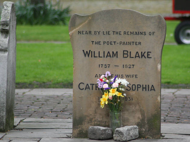 William Blake's grave, Bunhill Fields, London