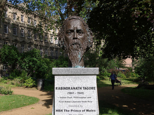 Bust of Rabindranath Tagore, Gordon Square