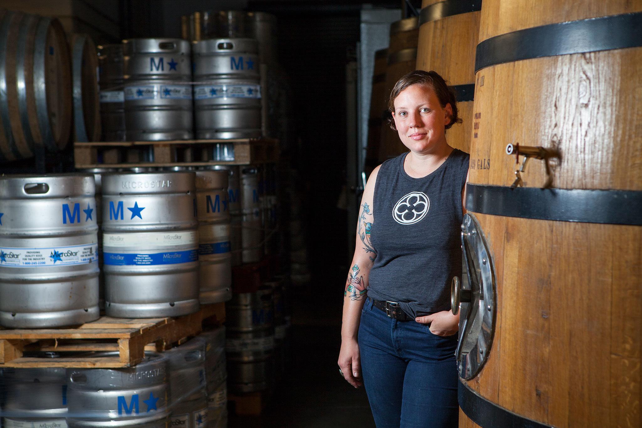 Jennifer Treu at Monkish Brewing
