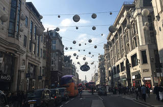 The Oxford Street Christmas lights have already gone up