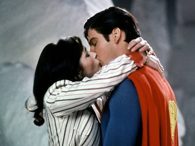 Margot Kidder and Christopher Reeve in Superman II