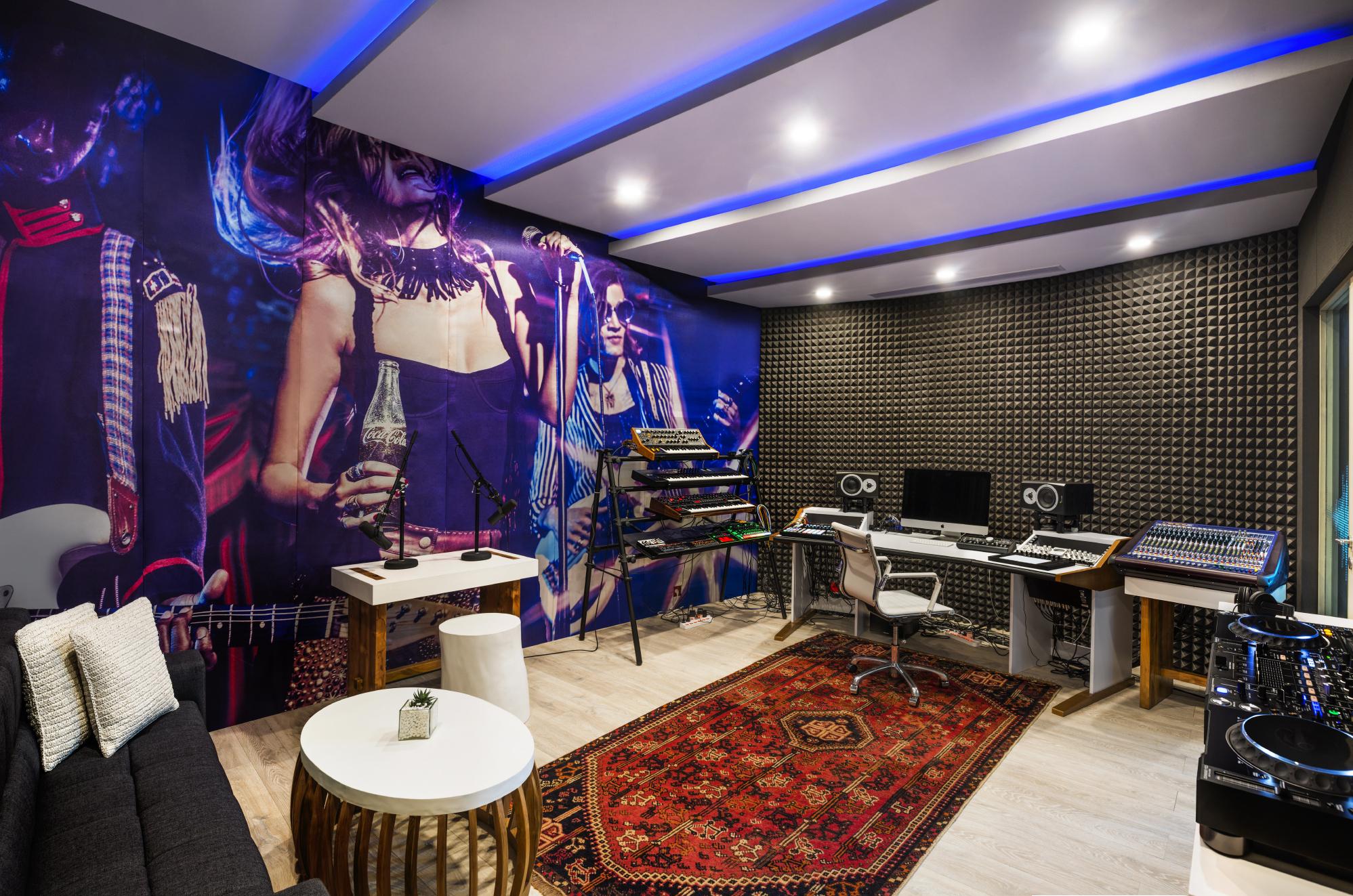 W Hotels recording studio