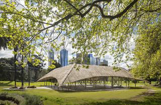 MPavilion 2016 Bijoy Jain installation view 01 feat Melbourne landscape image courtesy Naomi Milgrom Foundation photographer credit John Gollings