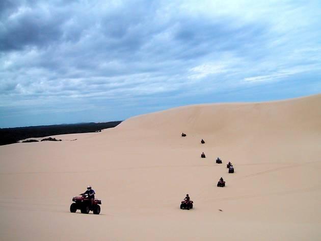 Quad bikes on sand dunes