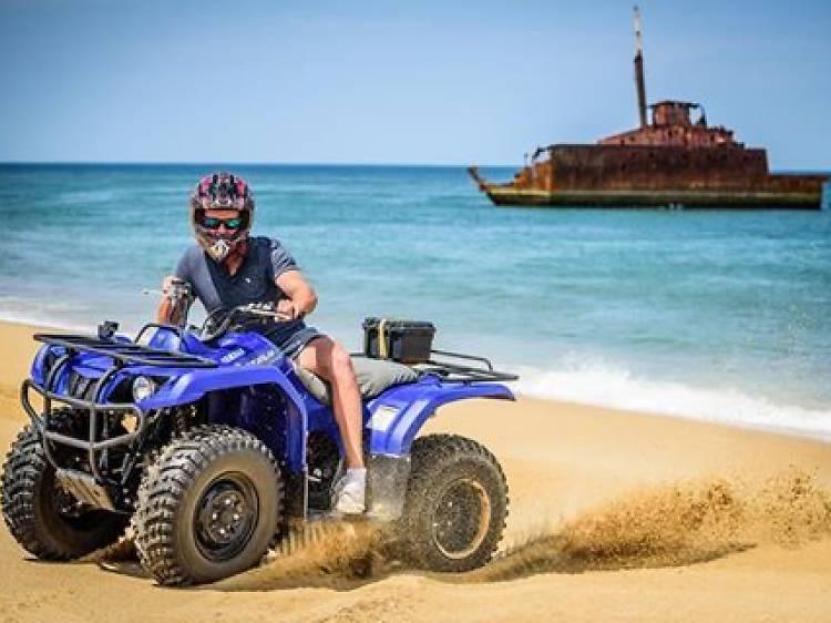 Quad Biking over Stockton Bight Sand Dunes